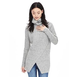 Banana Republic | Gray Crossover Turtleneck Tunic